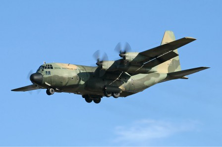 'RAAF Lockheed C-130H Hercules AVV Creek' by Ian Creek - http://www.airliners.net/photo/Australia---Air/Lockheed-C-130H-Hercules/1195243/L/. Licensed under GNU Free Documentation License via Wikimedia Commons